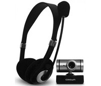 Crown  Chat pack webcam with mic CMC-P02 Price in Pakistan, Specifications, Features, Reviews